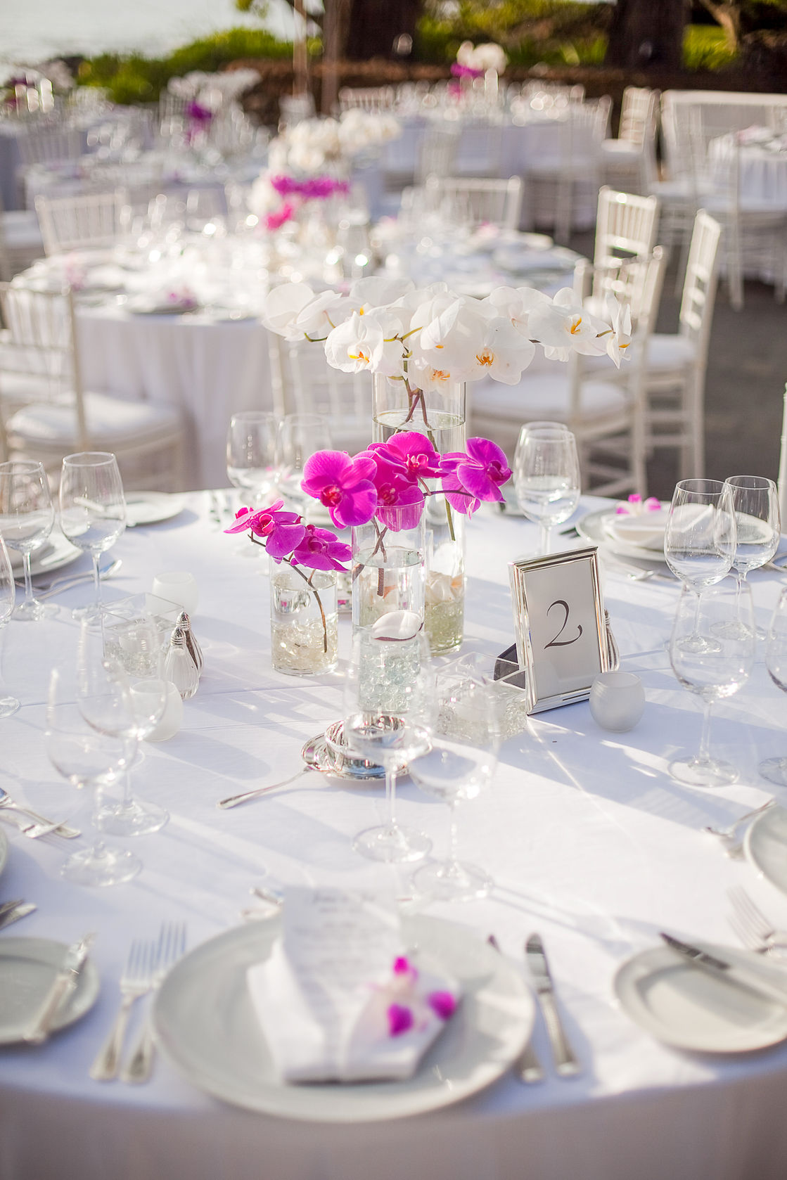 44306149 – tables setup for an outdoor event